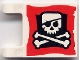 Part No: 2335pb008  Name: Flag 2 x 2 Square with Skull and Crossbones (Eyepatch) Pattern