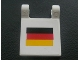 Part No: 2335pb022  Name: Flag 2 x 2 Square with German Flag Pattern (Sticker) - Set 8672
