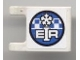 Part No: 2335pb054  Name: Flag 2 x 2 Square with Snowflake and 'EIR' Pattern on Both Sides (Stickers) - Set 8124