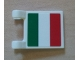 Part No: 2335pb078  Name: Flag 2 x 2 Square with Italian Flag Pattern on One Side (Sticker) - Set 8423, 8679