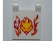 Part No: 2335pb086  Name: Flag 2 x 2 Square with Flames and Lion Head Pattern (Sticker) - Set 9558