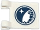 Part No: 2335pb120  Name: Flag 2 x 2 Square with Arctic Explorer Logo Pattern on Both Sides (Stickers) - Set 60036