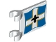 Part No: 2335pb131  Name: Flag 2 x 2 Square with Imperial Soldier Black Symbol over White Cross on Blue Background with Yellow Border Pattern