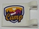 Part No: 2335pb150  Name: Flag 2 x 2 Square with Friends Camp Pattern to Left of Clips (Sticker) - Set 41121