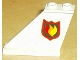 Part No: 2340pb023L  Name: Tail 4 x 1 x 3 with Fire Logo Badge Pattern on Left Side (Sticker)