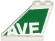 Part No: 2340pb053  Name: Tail 4 x 1 x 3 with White  'AVE' on Green Background Pattern on Left Side (Sticker) - Set 79120