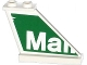 Part No: 2340pb054  Name: Tail 4 x 1 x 3 with White  'Mall' on Green Background Pattern on Right Side (Sticker) - Set 79120