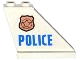 Part No: 2340pb058R  Name: Tail 4 x 1 x 3 with Police Copper Star Badge and Blue 'POLICE' Pattern on Right Side (Sticker) - Set 60130