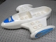 Part No: 23702pb01  Name: Duplo Spaceship Body with Blue and Silver Pattern