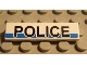 Part No: 2431pb036  Name: Tile 1 x 4 with 'POLICE' on White/Blue Background Pattern (Sticker) - Set 8252