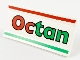 Part No: 2440pb005  Name: Hinge Panel 6 x 3 with Red and Green Stripes and 'Octan' Pattern