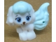 Part No: 24889pb01  Name: Dog, Whisker Haven Tales, Cinderella's Puppy with Light Aqua Bangs and Tail, Bright Light Blue Eyes and Dark Brown Nose Pattern (Pumpkin)