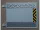 Part No: 2525pb006  Name: Flag 6 x 4 with Silver Tread Plates and Black and Yellow Danger Stripes Pattern (Sticker) - Set 8638
