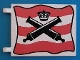 Part No: 2525px1  Name: Flag 6 x 4 with Crossed Cannons over Red Stripes Pattern