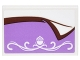 Part No: 26603pb003  Name: Tile 2 x 3 with Medium Lavender Blanket with Reddish Brown Trim and White Scrollwork with Acorn Pattern (Sticker) - Set 41182