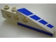 Part No: 2744pb010  Name: Technic Slope Long with Blue Stripes and Blue on Bottom Pattern Right (Stickers) - Set 8824