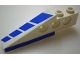 Part No: 2744pb011  Name: Technic Slope Long with Blue Stripes and Blue on Bottom Pattern Left (Stickers) - Set 8824