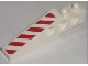 Part No: 2744pb019R  Name: Technic Slope Long with Red and White Danger Stripes Pattern Right (Sticker) - Set 7207