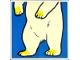 Part No: 2756pb174  Name: Duplo Tile 2 x 2 x 1 with Polar Bear Mosaic Picture 12 Pattern (Set 1079)