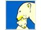 Part No: 2756pb175  Name: Duplo Tile 2 x 2 x 1 with Polar Bear Mosaic Picture 13 Pattern (Set 1079)