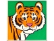 Part No: 2756pb183  Name: Duplo Tile 2 x 2 x 1 with Tiger Mosaic Picture 03 Pattern (Set 1079)