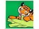 Part No: 2756pb187  Name: Duplo Tile 2 x 2 x 1 with Tiger Mosaic Picture 07 Pattern (Set 1079)