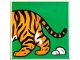 Part No: 2756pb192  Name: Duplo Tile 2 x 2 x 1 with Tiger Mosaic Picture 12 Pattern (Set 1079)
