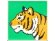Part No: 2756pb193  Name: Duplo Tile 2 x 2 x 1 with Tiger Mosaic Picture 13 Pattern (Set 1079)