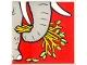 Part No: 2756pb204  Name: Duplo Tile 2 x 2 x 1 with Elephant Mosaic Picture 06 Pattern (Set 1079)