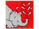 Part No: 2756pb206  Name: Duplo Tile 2 x 2 x 1 with Elephant Mosaic Picture 08 Pattern (Set 1079)