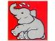 Part No: 2756pb207  Name: Duplo Tile 2 x 2 x 1 with Elephant Mosaic Picture 09 Pattern (Set 1079)