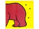 Part No: 2756pb228  Name: Duplo Tile 2 x 2 x 1 with Brown Bear Mosaic Picture 12 Pattern (Set 1079)