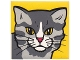 Part No: 2756pb237  Name: Duplo Tile 2 x 2 x 1 with Cat Mosaic Picture 03 Pattern (Set 1014)