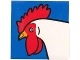 Part No: 2756pb253  Name: Duplo Tile 2 x 2 x 1 with Chicken Mosaic Picture 01 Pattern (Set 1014)
