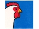 Part No: 2756pb267  Name: Duplo Tile 2 x 2 x 1 with Chicken Mosaic Picture 15 Pattern (Set 1014)