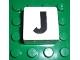 Part No: 2756pb317  Name: Duplo Tile 2 x 2 x 1 with Capital J Pattern