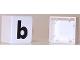 Part No: 2756pb337  Name: Duplo Tile 2 x 2 with Lowercase b Pattern (Set 1018)