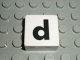 Part No: 2756pb339  Name: Duplo Tile 2 x 2 with Lowercase d Pattern (Set 1018)