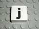 Part No: 2756pb345  Name: Duplo Tile 2 x 2 with Lowercase j Pattern (Set 1018)