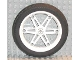 Part No: 2903c02  Name: Wheel 61.6mm D. x 13.6mm Motorcycle, with Black Tire 81.6 x 14.2 Motorcycle Z Racing Tread (2903 / 6596)
