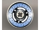 Part No: 2958pb022  Name: Technic, Disk 3 x 3 with Disk Brake 3 Spokes, Black Dots on Blue Pattern (Sticker) - Set 8219