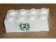 Part No: 3001pb076  Name: Brick 2 x 4 with Black Number 2 in Green Laurels Pattern (Sticker) - Set 6539