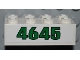 Part No: 3001pb084  Name: Brick 2 x 4 with Green '4645' on White Background Pattern (Sticker) - Set 4645
