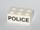 Part No: 3002oldpb05  Name: Brick 2 x 3 with Black 'POLICE' Sans-Serif Pattern