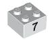 Part No: 3003pb041  Name: Brick 2 x 2 with Black  '7' Pattern