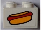 Part No: 3003pb090  Name: Brick 2 x 2 with Hot Dog Pattern (Sticker) - Set 60097