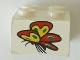 Part No: 3003pb095  Name: Brick 2 x 2 with Butterfly Pattern (Sticker) - Set 4165