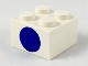 Part No: 3003px9  Name: Brick 2 x 2 with Dot Blue on One Side Pattern