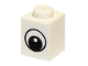 Part No: 3005pb011  Name: Brick 1 x 1 with Eye Simple with Black and White Pattern, Circle in Pupil