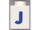Part No: 3005ptJb  Name: Brick 1 x 1 with Blue 'J' Pattern (Bold Font)